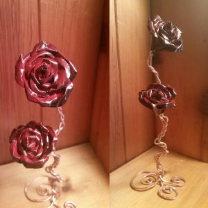 Handcrafted Roses. made from upcycled aluminum and copper